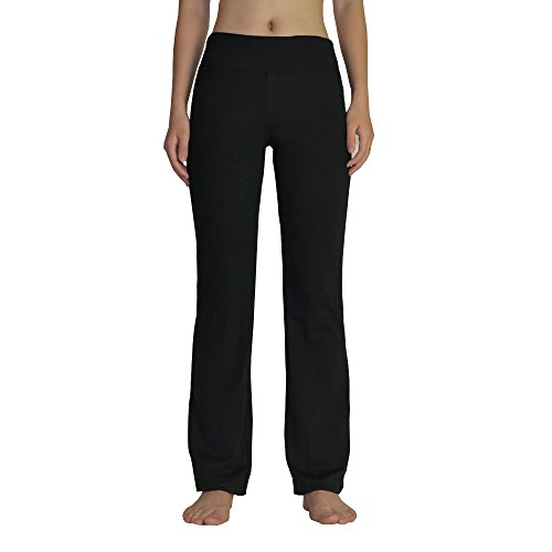 FEIVO Yoga Pants, Women's Loose Casual Long Fashion Printing Comfy Sports Pants,Black,X-Large