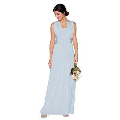 Debut Womens Light Blue Multiway Maxi Dress M