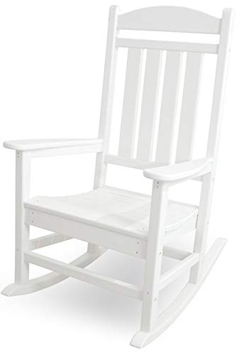 POLYWOOD R100WH Presidential Rocking Chair, White (Renewed)