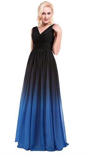 blue5 Kleid Column Drasawee Damen Silber Black fqTW6gx