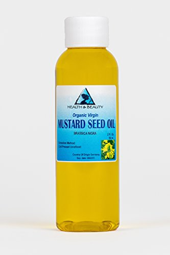 Mustard Oil Unrefined Organic Carrier Cold Pressed Pure 2 oz (Best Mustard Oil For Baby Massage)