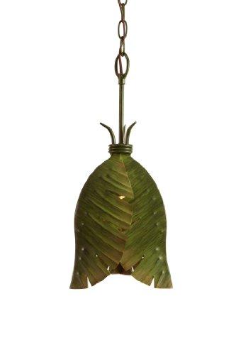 (Varaluz 901M01 Banana Leaf 1-Light Mini Pendant - Banana Leaf Finish )