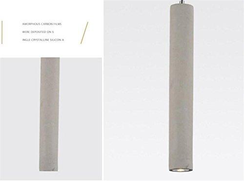 - LUCKY CLOVER-A Vintage Cylinder-Shaped Cement Pendant Light Chandelier Ceiling Light(Short,Long), Short