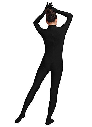 Ensnovo Womens One Piece Unitard Full Body Suit Lycra Spandex Skin Tights Black,M by Ensnovo (Image #6)