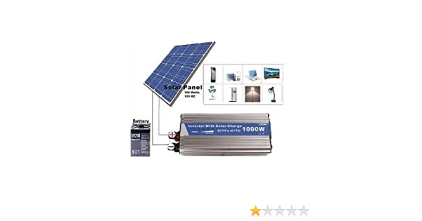 amazon com 1000 watts solar power backup for power cuts or daily rh amazon com