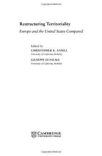 Restructuring Territoriality: Europe and the United States Compared pdf epub