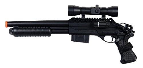 M47B2 Spring Airsoft Shotgun FPS-280 with Aiming Sight(Airsoft Gun), Black