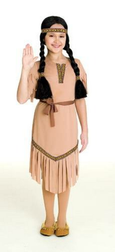 Paper Magic Group Native American Beauty-1 Girl's Costume, Small 4-6