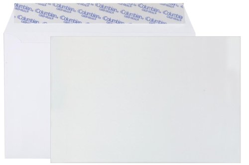 Columbian CO330 6x9-Inch Booklet Grip-Seal White Envelopes, 250 Count by Columbian