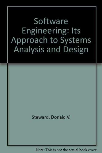 Software Engineering With Systems Analysis And Design Steward Donald V 9780534075064 Amazon Com Books