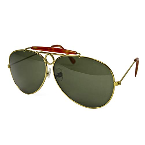 Gold and Green Aviator