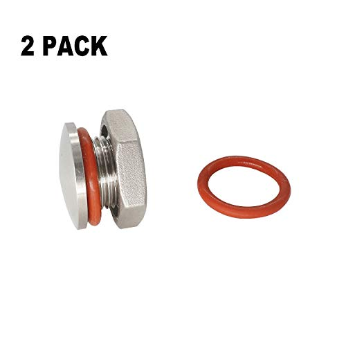 2 PCAK Kettle Plug 20.8mm compression 304 stainless Steel Homebrew Kettle plug for 20.8mm hole fit 1/2