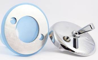 Leak-Proof Overflow Gasket Kit with Trip Lever Plate, Chrome