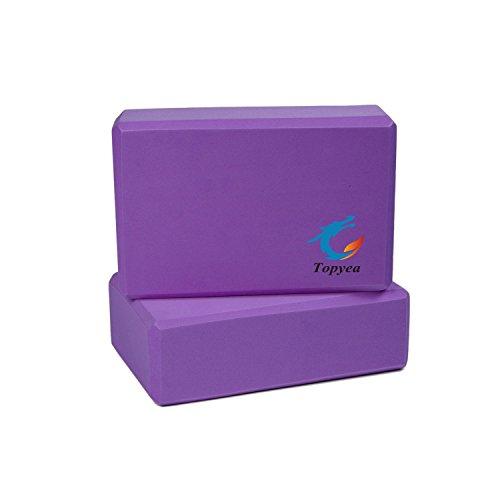Yoga Blocks,Exercise Blocks,Yoga Foam Blocks, Recycled High Desity Foam (Set of 2)