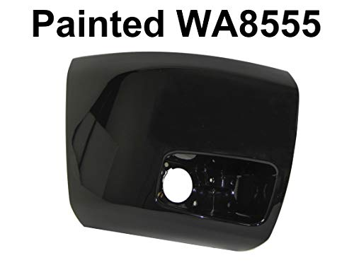 PAINTED WA8555 BLACK FRONT BUMPER CAP BLACK W/HOLE RH GM1005147 FOR 2007-2013 CHEVY SILVERADO