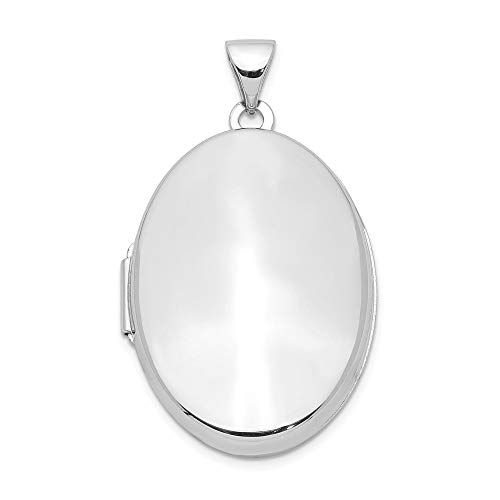 (925 Sterling Silver 26mm 2 Frame Oval Photo Pendant Charm Locket Chain Necklace That Holds Pictures Fine Jewelry Gifts For Women For Her )