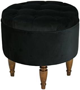 Sole Designs Rosie Round Ottoman Black