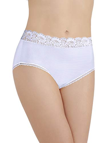 Vanity Fair Women's Flattering Lace Brief Panty 13281, Star White, Large/7