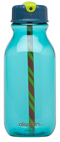 Aladdin Flip-to-Sip Kids Water Bottle 14oz, Sky