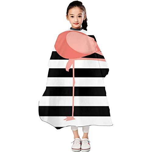 Flamingo Printable Kids Haircut Barber Cape Cover For Hair Cutting Barber Apron 3947 In ()