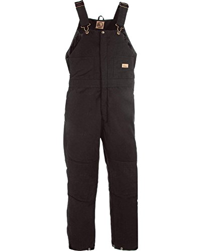 Berne Women's Washed Insulated Bib Overalls Regular Black XLR