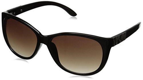 Adrienne Vittadini Women's AV1022 Cateye Sunglasses, Black, 58 - Sunglasses Adrienne Vittadini