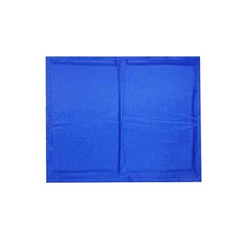 NEVERLAND003 1Pc Summer Cooling Pet Dog Mat Muti-Functional Ice Pad Portable Travel Cats Sleeping Blanket Pet Cushion Pet Supplies,Blue,40X50Cm