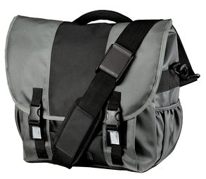 District Threads Montezuma Messenger Bag - Deep Smoke/Black DT700 OSFA - District Messenger