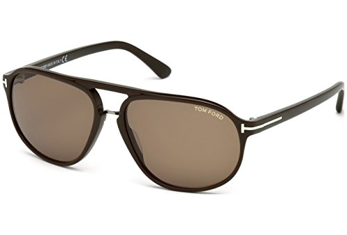 Tom Ford Jacob Sunglasses FT0447 49J, Brown Frame, Roviex Lens, - Tom Sunglasses Ford Jacob