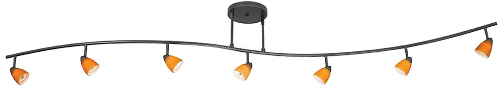 Cal Lighting 954-77L-DB Track Lighting with No Shades, Dark Bronze Finish by Cal
