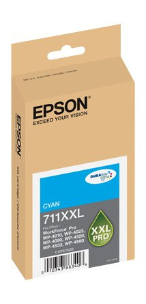 Epson DURABrite Ultra Cyan Ink Cartridge, 3400 Yield (T711XXL220)