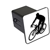 "Cycling Cycle Biking - 2"" Tow Trailer Hitch Cover Plug Insert Truck Pickup RV"