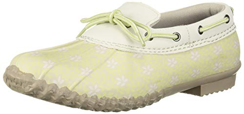 (JBU by Jambu Women's Gwen Garden Ready Rain Shoe, Honeydew Floral, 8.5 M US)