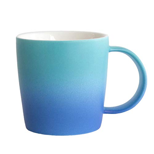 Ombré Color Collection (Aurora - Light/Dark Blue), Gradient Mug, Cool Coffee Mugs/Tea Cups,12oz Bone China, Dishwasher & Microwave Safe by ()