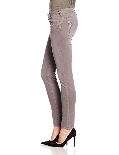 Herrlicher metal Mujer Slim Para 140 Grau Pantalones Piper HWnSqxaO6H