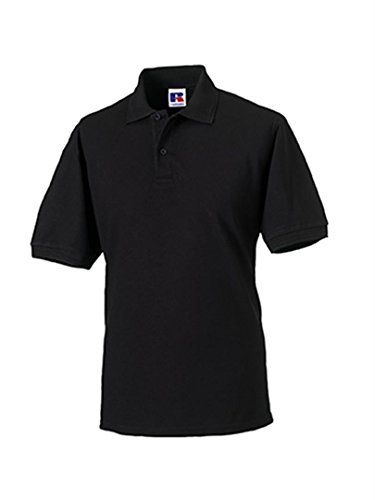 Russell Men's Hardwearing Pique Short Sleeve Polo Shirt Black L