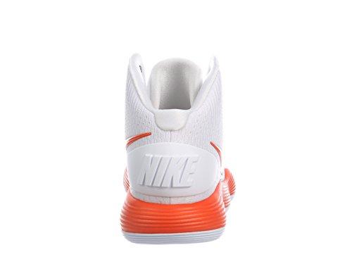 Nike Mens React Hyperdunk 2017 In Nylon Scarpe Da Corsa Bianco / Arancio Brillante