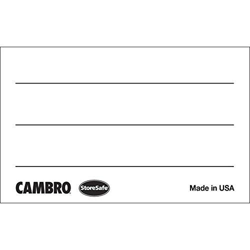 Cambro StoreSafe Rectangular Dissolvable Food Safety Label - 2