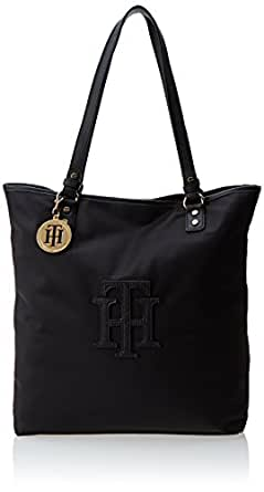 Tommy Hilfiger Trapunto Travel Tote,Black,One Size