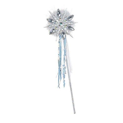 (Amscan 845338 Ice Princess Snowflake Wand, White)