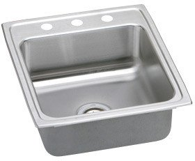 22' Single Bowl Top - Elkay MLR20221 18 Gauge Stainless Steel 19.5'' x 22'' x 7.6563'' Single Bowl Top Mount Kitchen Sink 1 Faucet Hole