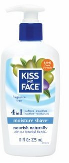 Kiss My Face Essential Oils Body Lotion - Kiss My Face 4in1 Moisture Shave, Fragrance Free 11 Fl Oz(1 Pack)