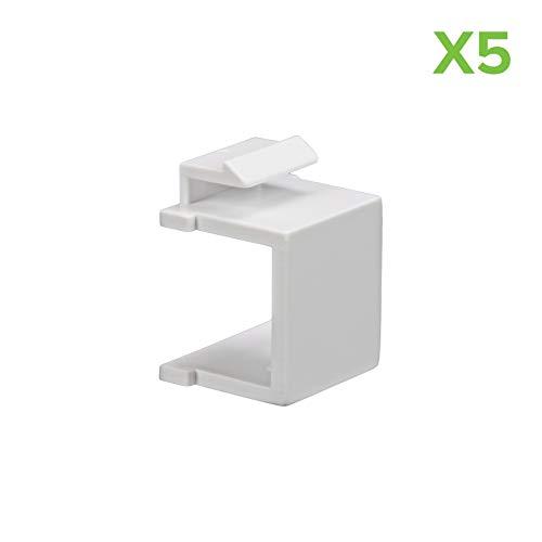 - NavePoint Blank Keystone Adapter White 5-pack