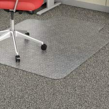 - Lorell 45 by 53-Inch Wide Chair Mat, 25 by 12-Inch Lip, Clear