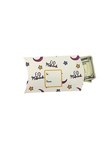 Jasmine and Marigold Cute Adorable Kids Eid Gift Pillow Box Money Envelope for Holiday Celebration - Celebration Envelopes