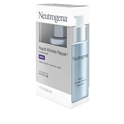 314 NEaiofL - Neutrogena Rapid Wrinkle Repair Accelerated Hyaluronic Acid Retinol Night Cream Face Moisturizer, Anti Wrinkle Face Cream & Neck Cream with Hyaluronic Acid, Retinol & Glycerin, 1 fl. oz