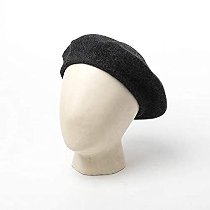 Joyhy Mens Unisex Adults Solid Color Wool Artist French Beret Hat
