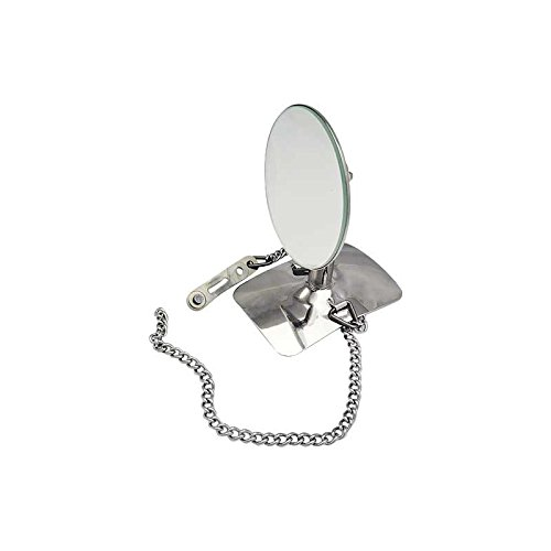 Tire Chrome Trim Spare Accessory (MACs Auto Parts 28-26354 Model A Ford Spare Tire Side Mount Rear View Mirror - Chrome Base & Arm With Stainless Mirror Head - Chain Mount)