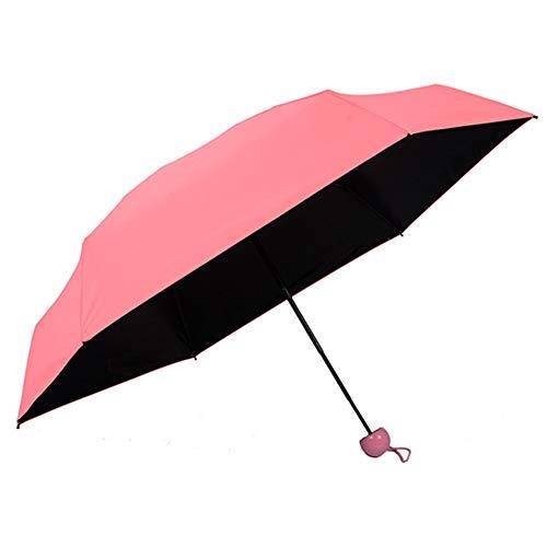 Umbrella Mini - Durable Capsule Umbrella Travel Mini Pocket Rain Strong Dual Purpose Womens Waterproof Lightweight - Rigs Stroller Multi Drink Davek Pack Giraffe Bubble Green Mini Cover Wome
