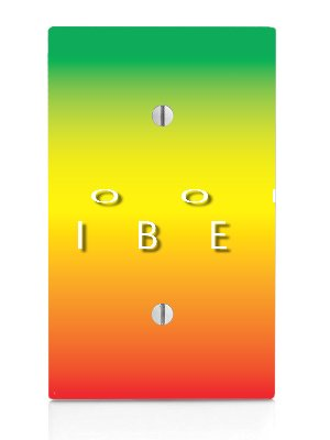 Rasta Single (Good Vibes Single Blank Electrical Switch Plate)